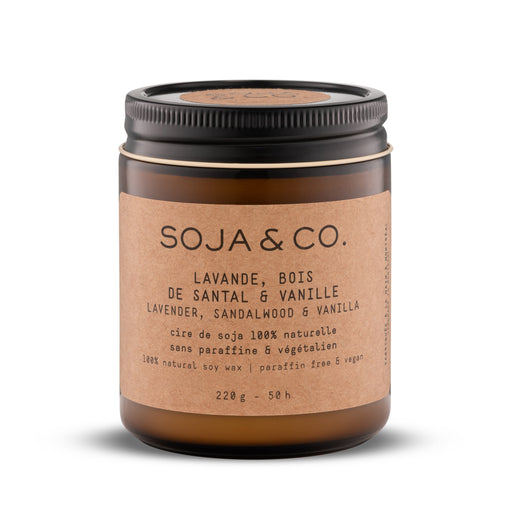 Soja and co - Bougie Lavande, Bois de Santal et Vanille - Boutique Ousias
