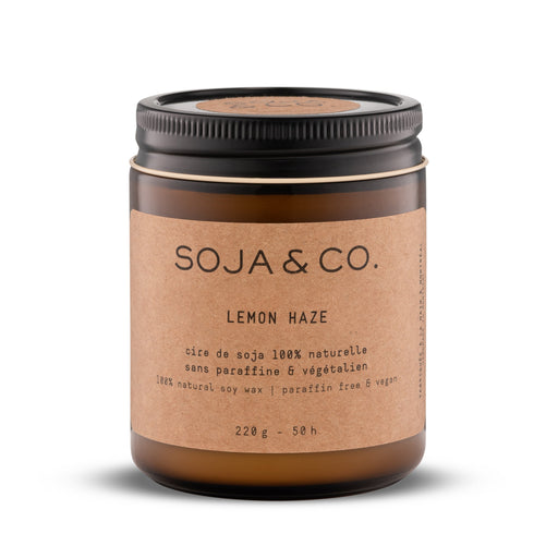 Soja and co - Bougie Lemon Haze (Citron et Cannabis) - Boutique Ousias