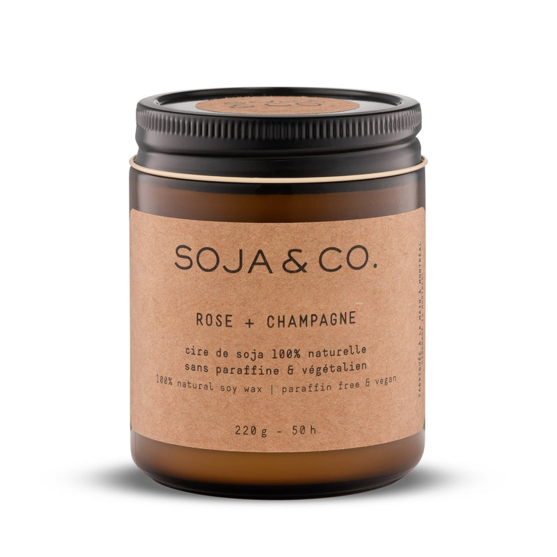 Soja and co - Bougie Rose et Champagne - Boutique Ousias