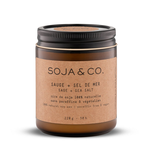 Soja and co - Bougie Sauge et Sel de mer - Boutique Ousias