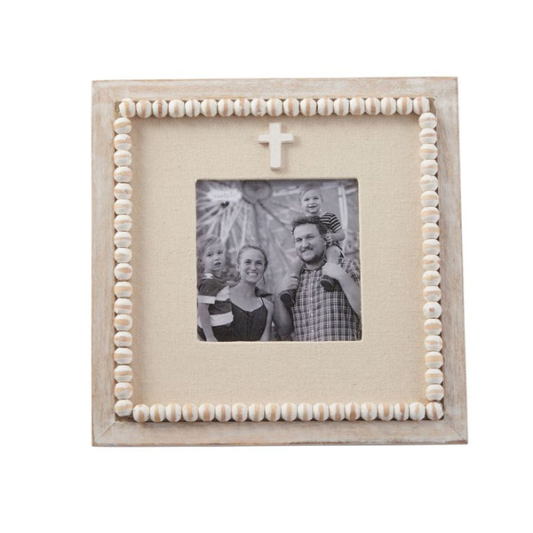 Picture Frame | Beaded Cross