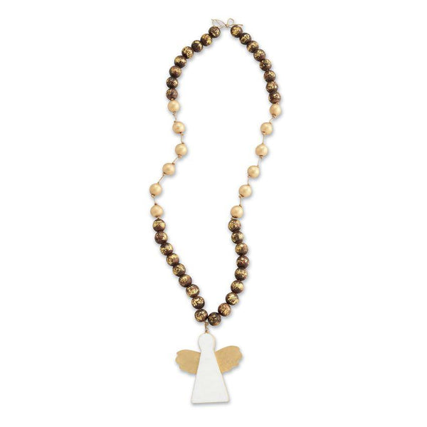 Decorative Beads | Marble Angel With Wooden Beads