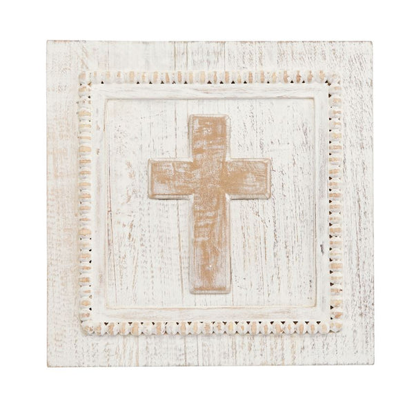 Plaque | Wood Cross