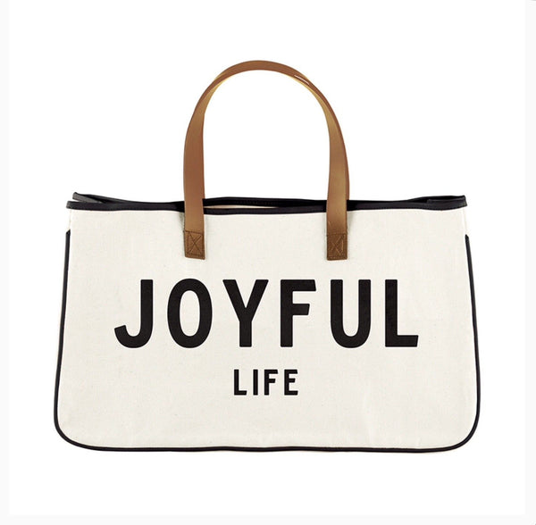 Canvas Tote Joyful