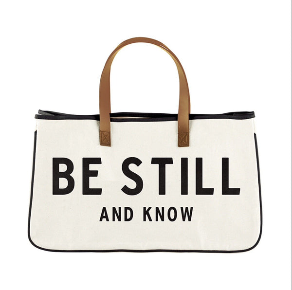 Canvas Tote Be Still