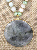 Sale | Necklace Circle Stone Beaded