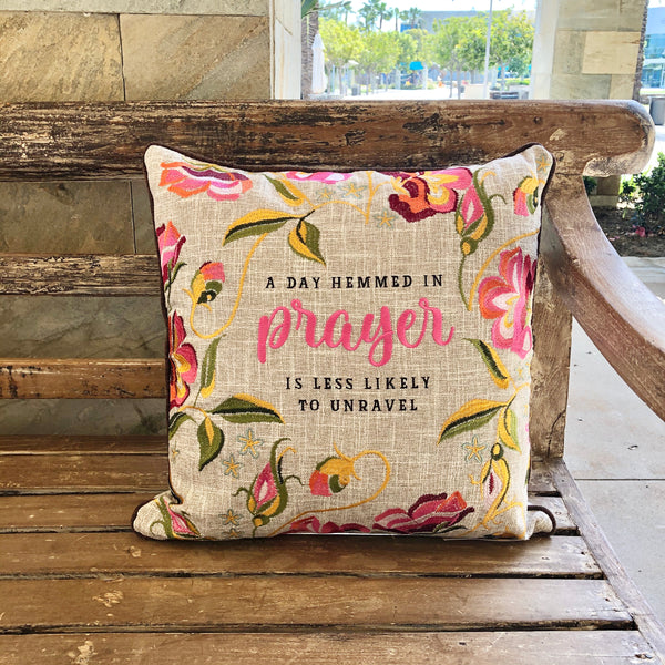 Pillow | A Day Hemmed In Prayer