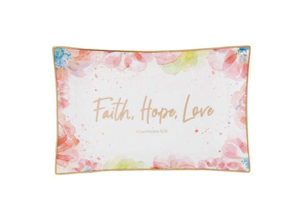 Trinket Tray | Faith, Hope and Love