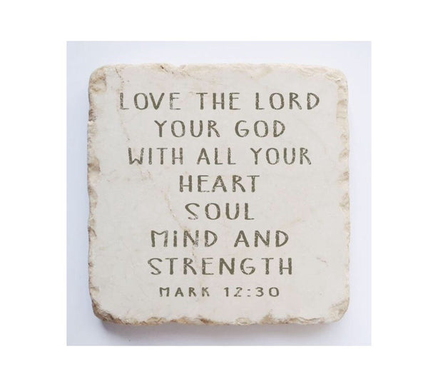 Scripture Stone | Mark 12:30 Large