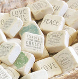 Tumbled Marble Scripture Stone-Psalm 16:11 Small