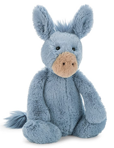 Jellycat Bashful Donkey Stuffed Animal, Medium, 12 inches