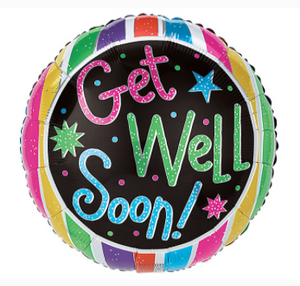 GET WELL SOON SPARKLE BALLOON