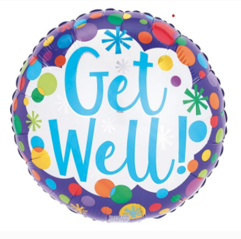 Get Well Dots on Blue
