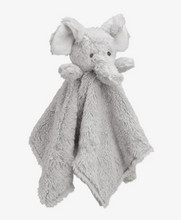 Load image into Gallery viewer, GRAY ELEPHANT BABY SECURITY BLANKET