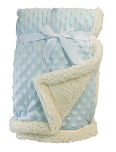 Sherpa Blanket - Pink and Blue