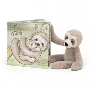 Bailey Sloth and My World Book  (Items sold separately)