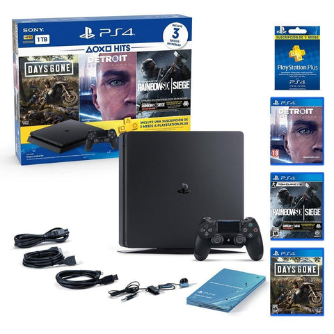 SONY CONSOLA PLAYSTATION 4 HITS BUNDLE 5 1TB