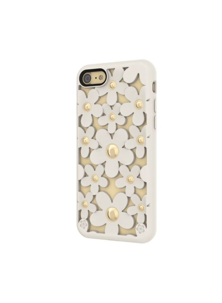 Case Fleur  White para IPhone 7 Color Blanco con rosas