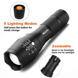 Powerful G700 Flashlight Cree XML T6 L2 Led Aluminum Waterproof Zoom Camping Torch Tactical Light AAA 18650 Rechargeable Battery