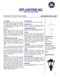 Dark Skies Approved Exterior LED 595 Post Top Lamp for Street & Parking