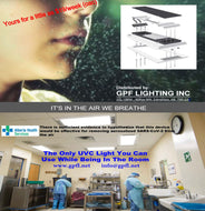 The Patented Air Disinfecting Light fixture replaces any 2x4 recessed ceiling light to protect against dangerous airborne pathogens. The only UVC light that can be used in occupied rooms.