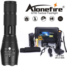 Load image into Gallery viewer, Powerful G700 Flashlight Cree XML T6 L2 Led Aluminum Waterproof Zoom Camping Torch Tactical Light AAA 18650 Rechargeable Battery