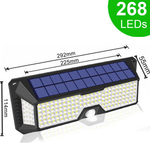 Solar LED Wall Pack Security Lamp with PIR Motion Sensor