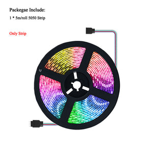 RGB LED Strip Light with Tuya Smart Life APP Wifi Controller DC12V 5050 60leds/m LED Flexible Strip Work With Alexa Google Home