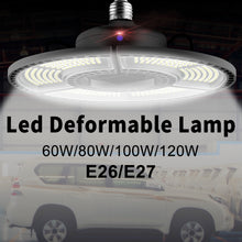 Load image into Gallery viewer, Super Bright E27 100W UFO LED Deformable Light Led Garage Lamp 220V 110V Smart Sensor Basement Factory Led Industrial Lighting