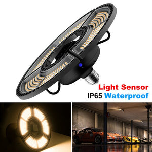 Super Bright E27 100W UFO LED Deformable Light Led Garage Lamp 220V 110V Smart Sensor Basement Factory Led Industrial Lighting