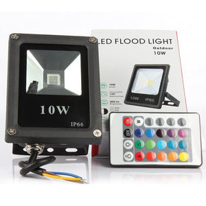 UL & CE LED SMART Flood lights with Remote to control Color changing RGB lighting effect