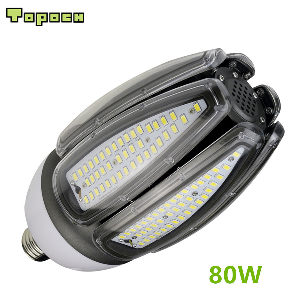 Topoch LED Replacement Bulb Olive Lamp 80W UL CE List E40 Base 250W HID Retro 100-277V for High Bay Garden Square Fixtures