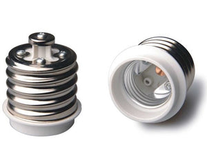 UL E39 to E26 Reducer for Converting LED bulbs with a E26 base  to fit in a E39 Socket.