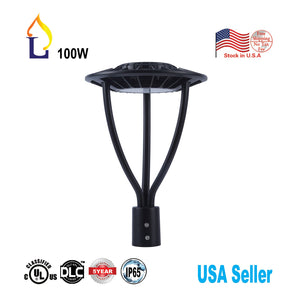 US stock 10 Pack LED street garden light lamp 50W 100W led Area post top lighting with UL DLC certification 100-277VAC