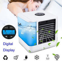 Load image into Gallery viewer, Mini USB Air Humidifiers Portable Purifier Arctic Air Conditioners Room Cooling 7 Colors LED Light Space Cooler Small Table Fans