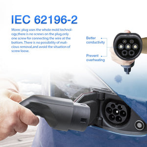 EV Charging Cable 16A 3.6KW for Electric Car Charger Station Type 2 Female to Male Plug, IEC 62196-2 5M For BWM, Audi,Kia Niro
