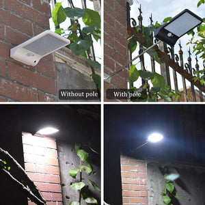 UL & CE Certify Motion Sensor Solar LED Fixture that can be Mounted on a Pole or Wall