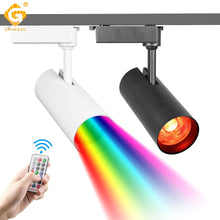 Load image into Gallery viewer, UL-20/30W-100/240V-RGB Track Lighting c/w Remote Control