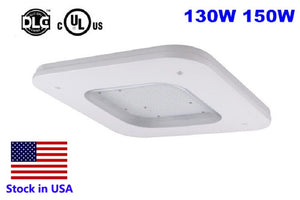 UL 150W  LED Canopy Fixture producing 16,500 DLC Lumens at 5000K.