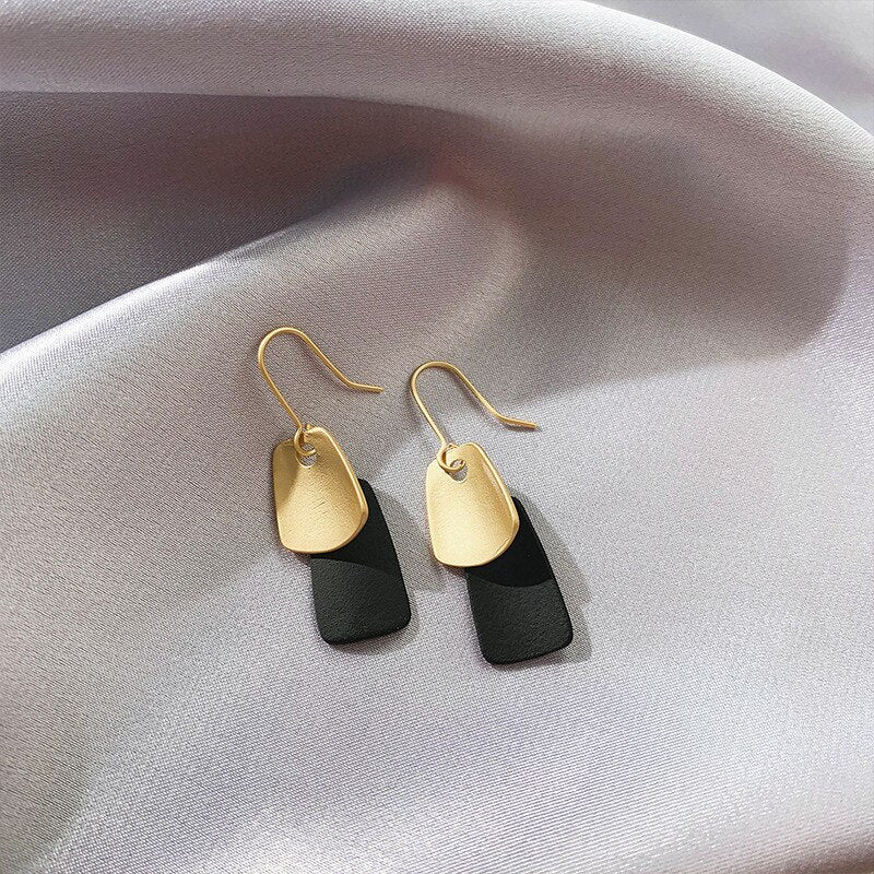 Square Dangle Drop Earrings - OneHavenCo