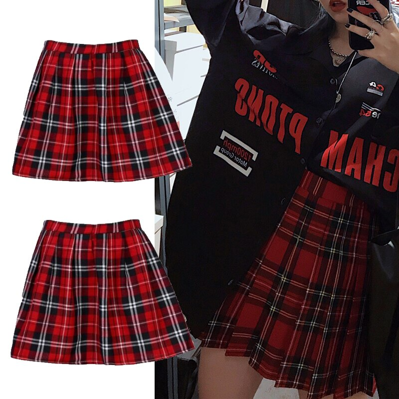 Preppy Plaid Skirt - OneHavenCo