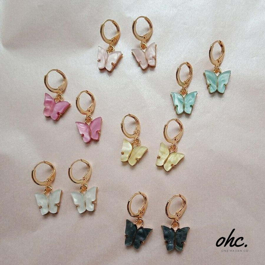 Butterfly Earrings & Necklace - OneHavenCo