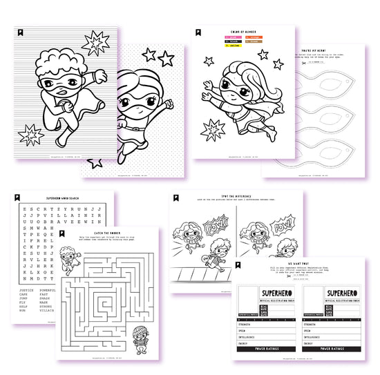 Little Superheroes Kids Printables