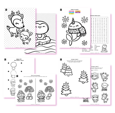 Frosty Friends Kids Printables