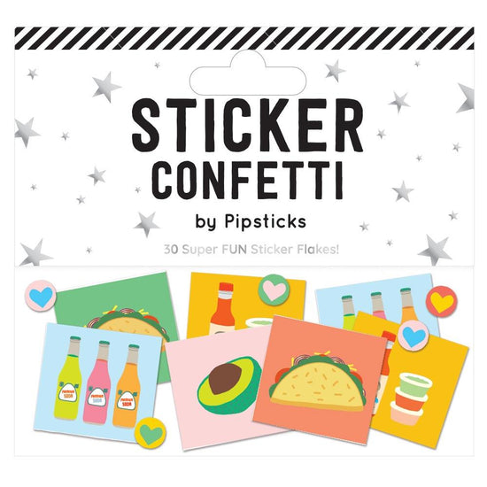 Fantas-Taco Sticker Confetti by Pipsticks
