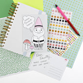 Color-in Gnome Postcard 20 Pack