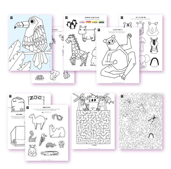 Day At The Zoo Kids Printables