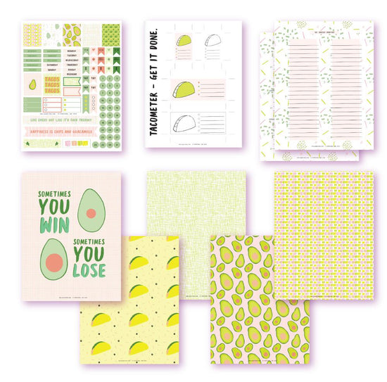 Let's Talk Taco Planner Printables