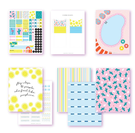 Soak In The Sun Planner Printables