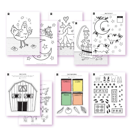 On The Farm Kids Printables